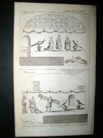 Curious Mausoleum Ornaments at Rheims, France 1786 Print